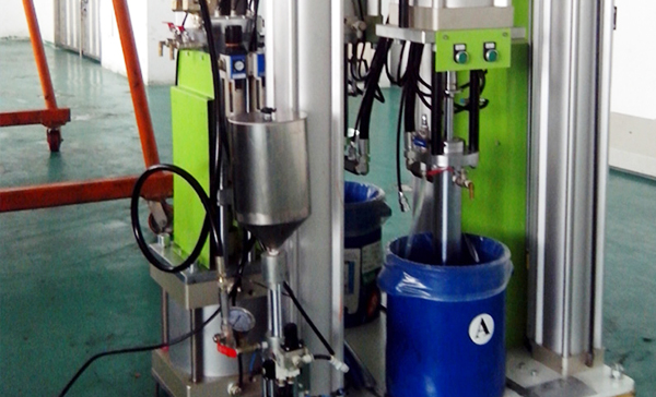Research LSR dosing machine pigment adding test